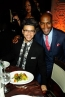 Actor Wilson Cruz and Karamo Brown find the camera before dinner